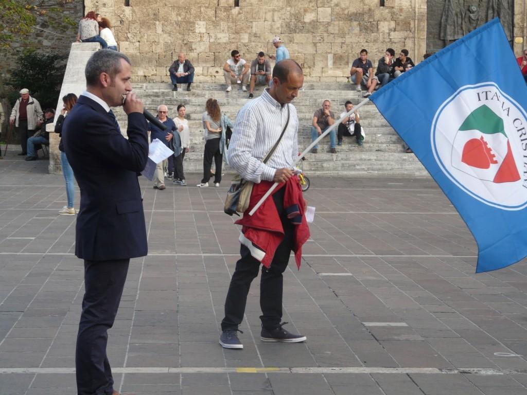 Il Presidente Fabrizio Verduchi -Manifestazione per la Famiglia - Teramo 11 Ottobre 2014