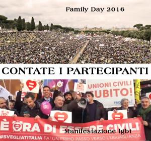 Family Day 2016 - manifestazione lgbt a confronto