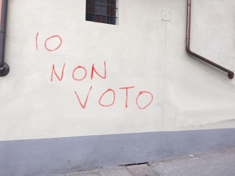 Astensionismo io non voto