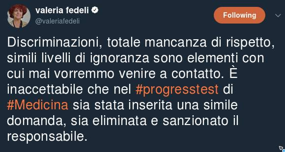Valeria Fedeli Progresstest